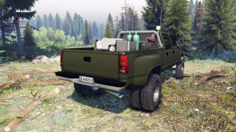 GMC Suburban 1995 Crew Cab Dually green for Spin Tires