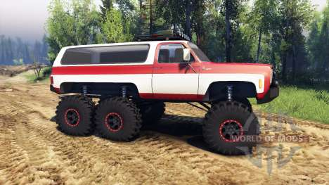 Chevrolet K5 Blazer 1975 Equipped red and white for Spin Tires