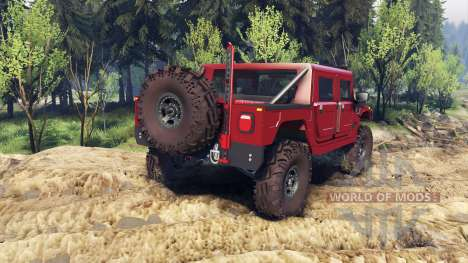 Hummer H1 fire house red for Spin Tires