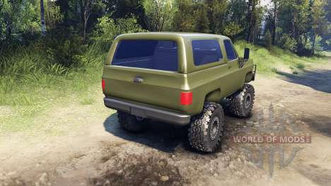 Chevrolet K5 Blazer 1975 v1.5 green for Spin Tires