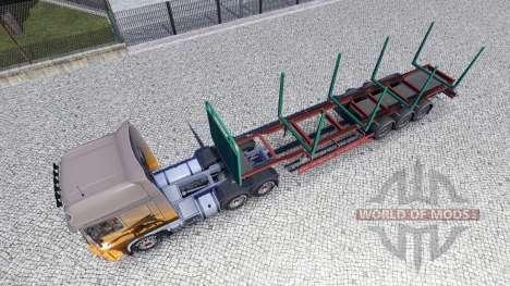 An empty semi-trailer for Euro Truck Simulator 2