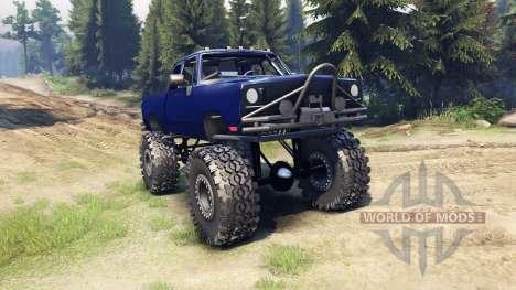 Dodge D200 blue for Spin Tires