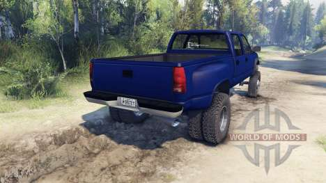 GMC Suburban 1995 Crew Cab Dually blue for Spin Tires
