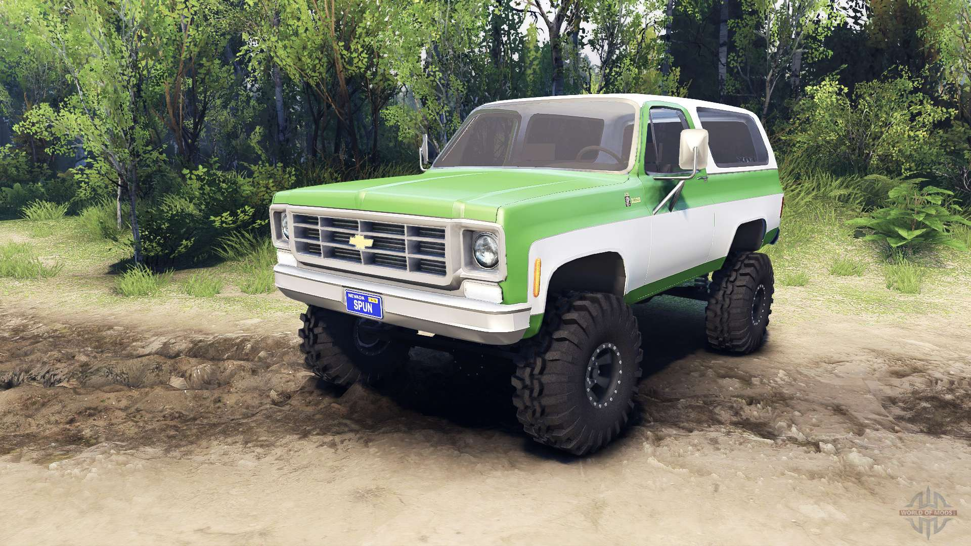 Chevy Blazer 2015 >> Chevrolet K5 Blazer 1975 green and white for Spin Tires
