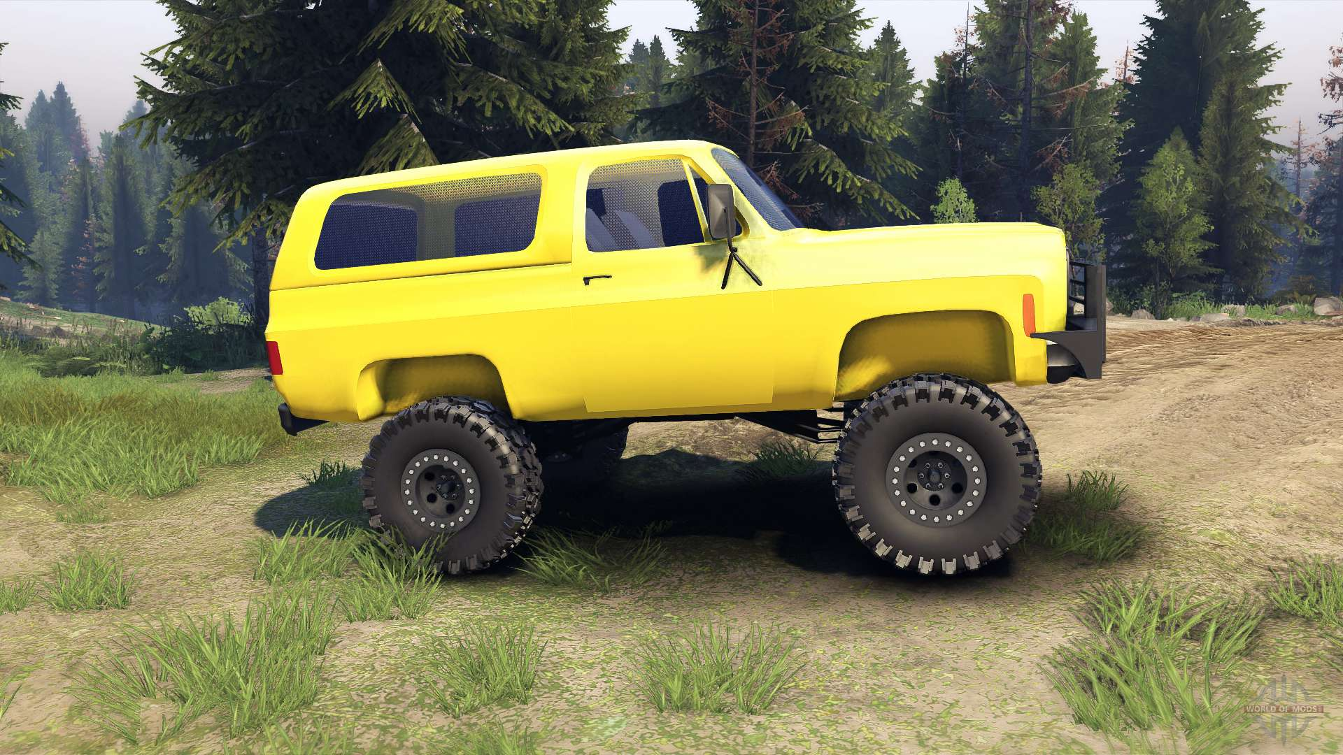 Chevrolet k5 blazer 1975 v15 yellow for spin tires publicscrutiny Image collections