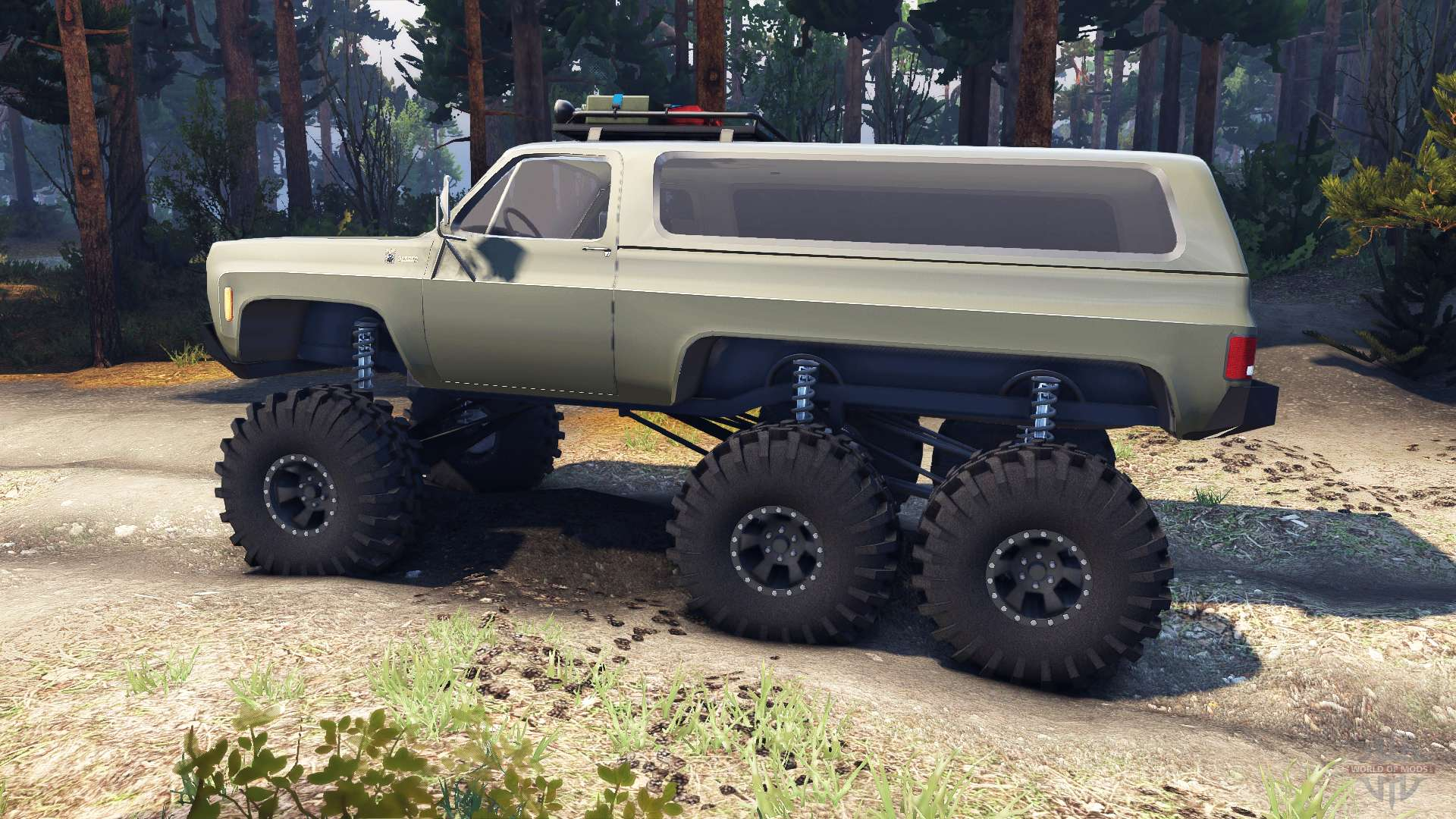 Chevrolet K5 Blazer 1975 Equipped 6x6 Army Green For Spin