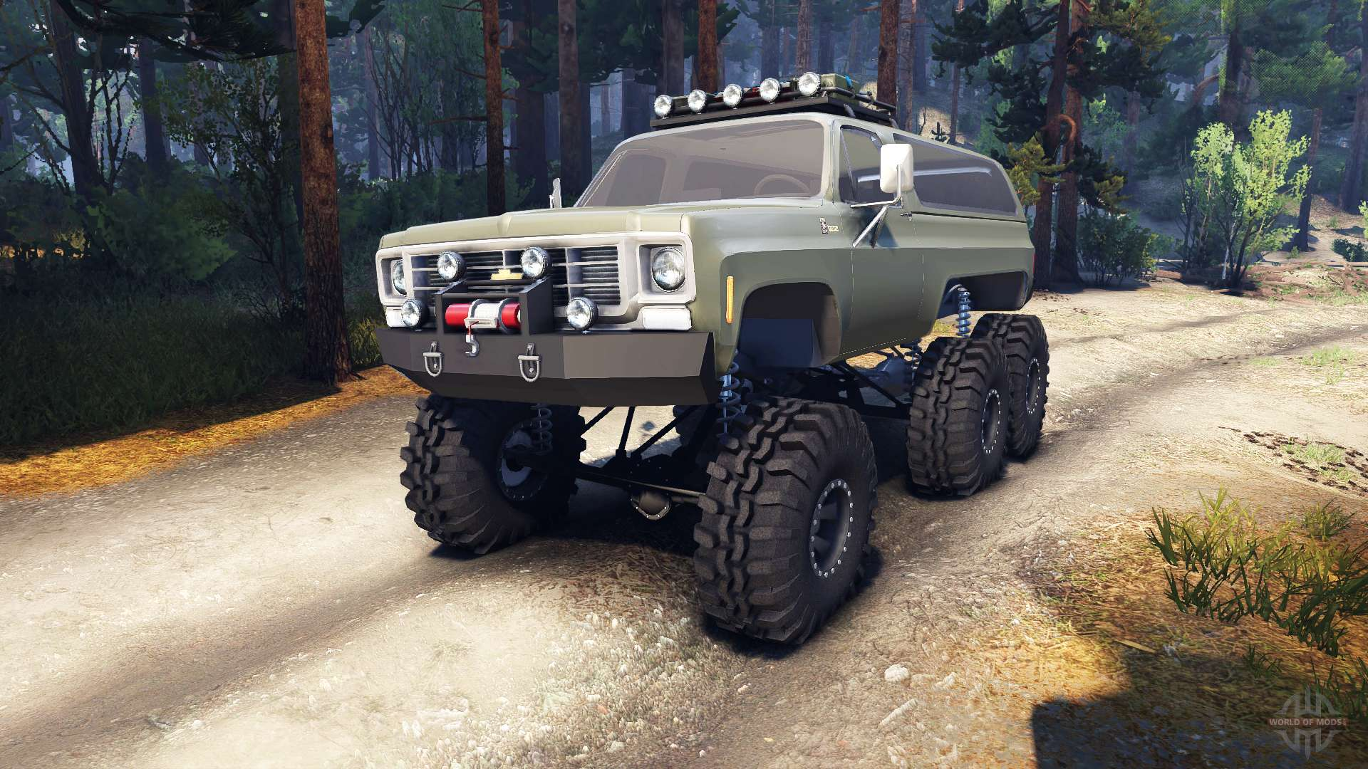 Chevrolet K5 Blazer 1975 Equipped 6x6 army green for Spin ...