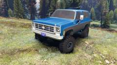 Chevrolet K5 Blazer 1975 blue and black