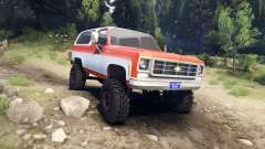 Chevrolet K5 Blazer 1975 orange and white