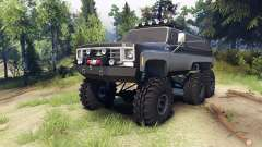 Chevrolet K5 Blazer 1975 6x6 black and silver for Spin Tires