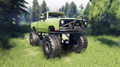 Dodge D200 green for Spin Tires