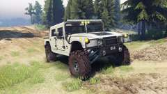 Hummer H1 army tan for Spin Tires