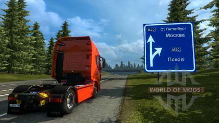 Russia Map - Orient Express for Euro Truck Simulator 2