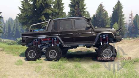 Mercedes-Benz G65 AMG 6x6 Final brilliant black for Spin Tires