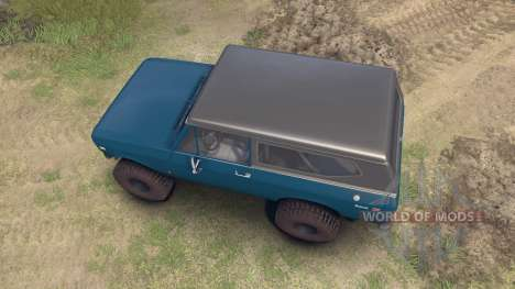 International Scout II 1977 bimini blue poly for Spin Tires