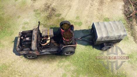 UAZ-469 rusty for Spin Tires