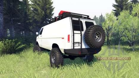 Ford E-350 Econoline 1990 v1.1 white for Spin Tires