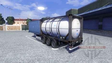 The container semi-trailer for Euro Truck Simulator 2