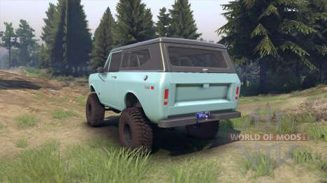 International Scout II 1977 glacier blue for Spin Tires