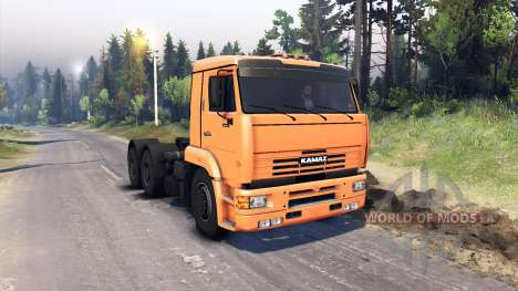 KamAZ-6460 for Spin Tires