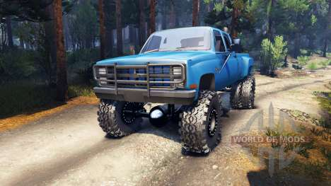 Chevrolet Silverado Dually Crew Cab v1.4 blue for Spin Tires