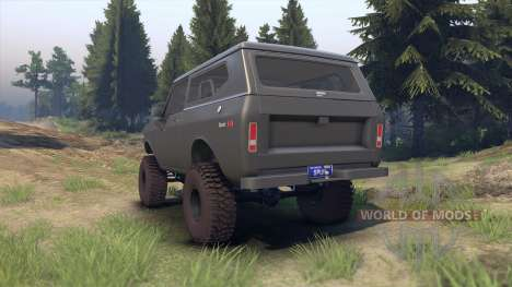 International Scout II 1977 gray for Spin Tires
