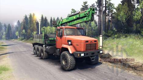 KrAZ-7140 orange for Spin Tires