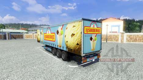 Semi Ijsboerke for Euro Truck Simulator 2