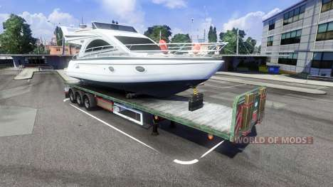 The trailer with the boat for Euro Truck Simulator 2