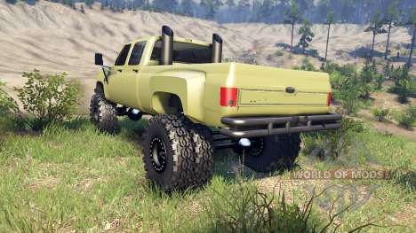 Chevrolet Silverado Dually Crew Cab v1.4 green for Spin Tires