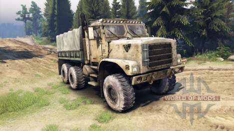 Oshkosh MTVR 6x6 for Spin Tires