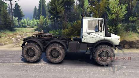Mercedes-Benz Unimog U1500L 6х6 grey for Spin Tires