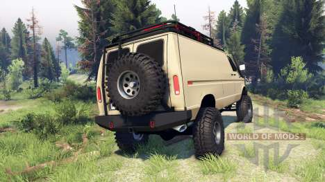 Ford E-350 Econoline 1990 v1.1 tan for Spin Tires