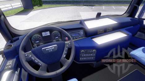 Blue interior, MAN for Euro Truck Simulator 2