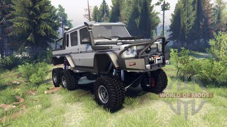 Mercedes-Benz G65 AMG 6x6 Final athlet silver for Spin Tires