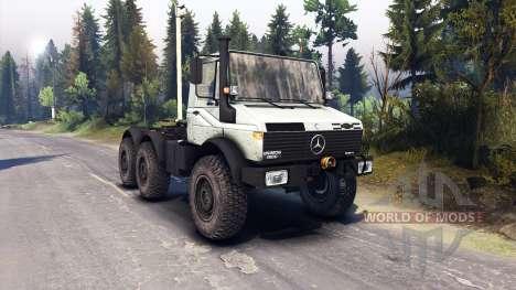Mercedes-Benz Unimog U1500L 6х6 grey for Spin Tires