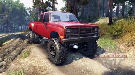 Chevrolet Silverado Dually Crew Cab v1.4 red for Spin Tires