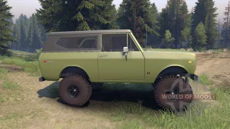 International Scout II 1977 grenoble green for Spin Tires