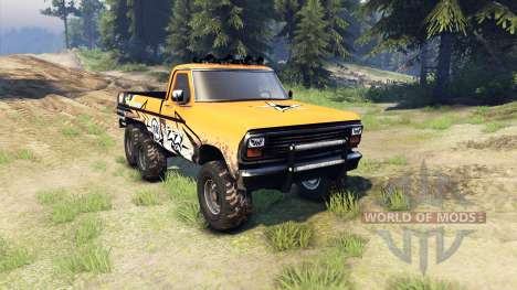 Ford F-100 6x6 custom for Spin Tires