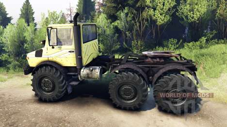 Mercedes-Benz Unimog U1500L 6х6 yellow for Spin Tires