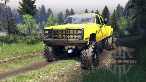 Chevrolet Silverado Dually Crew Cab v1.4 yellow for Spin Tires