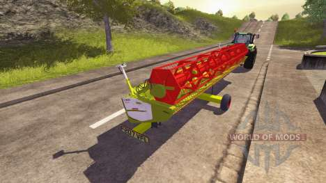 Trailer for harvester CLAAS for Farming Simulator 2013