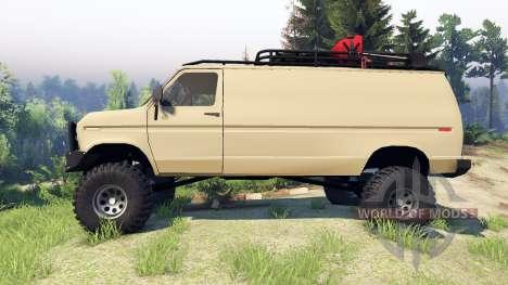 Ford E-350 Econoline 1990 v1.1 tan for Spin Tires