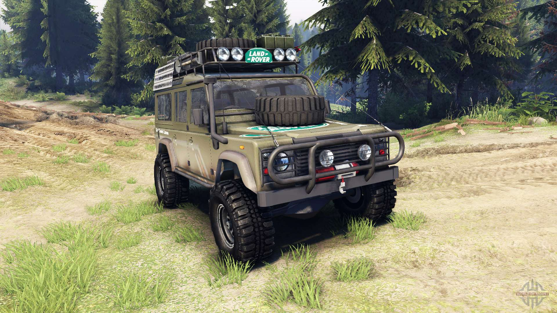 Land Rover Defender 110 For Spin Tires