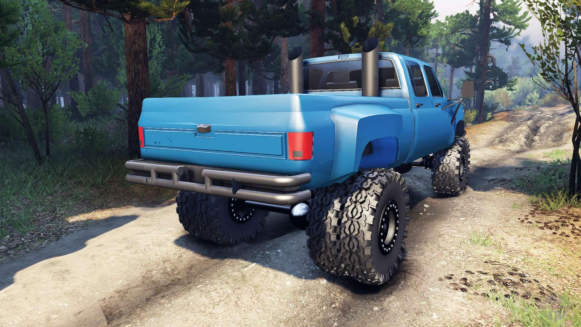Silverado Dually Crew Cab v14 blue for Spin Tires