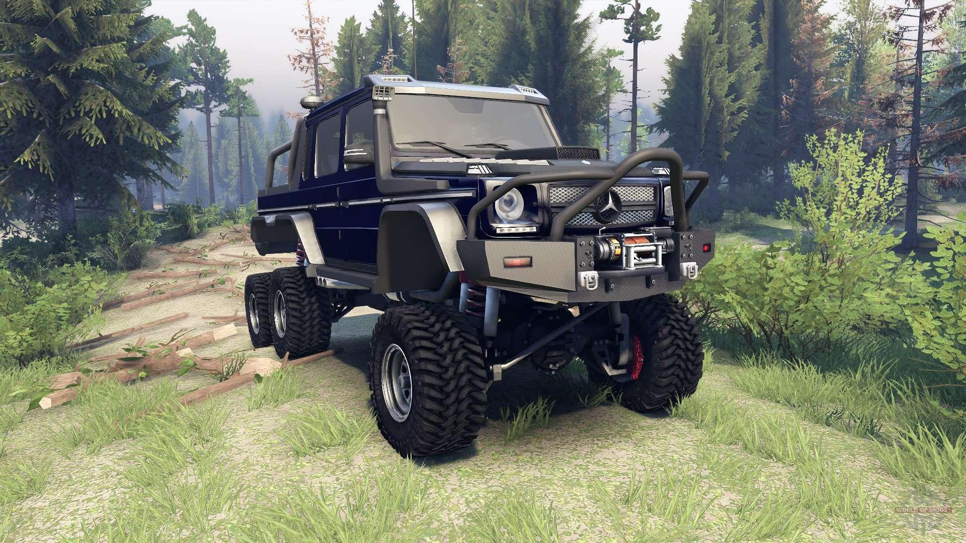 mercedes benz g65 amg 6x6 final dark blue
