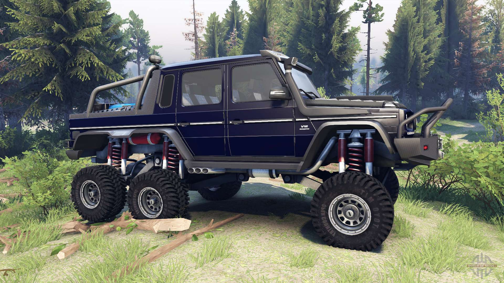 Mercedes-Benz G65 AMG 6x6 Final dark blue for Spin Tires