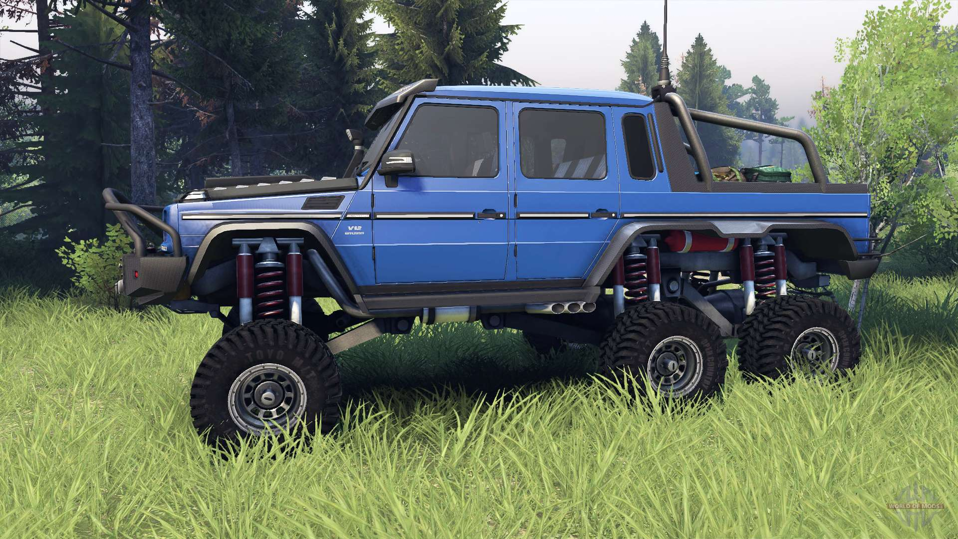 Mercedes benz g65 amg 6x6 final blue pearl for spin tires for Mercedes benz 6x6