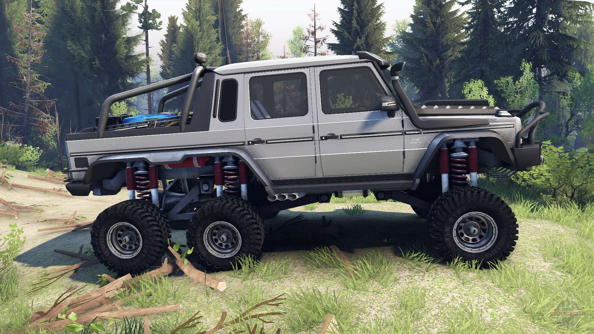 Mercedes Benz G65 Amg 6x6 Final Athlet Silver For Spin Tires