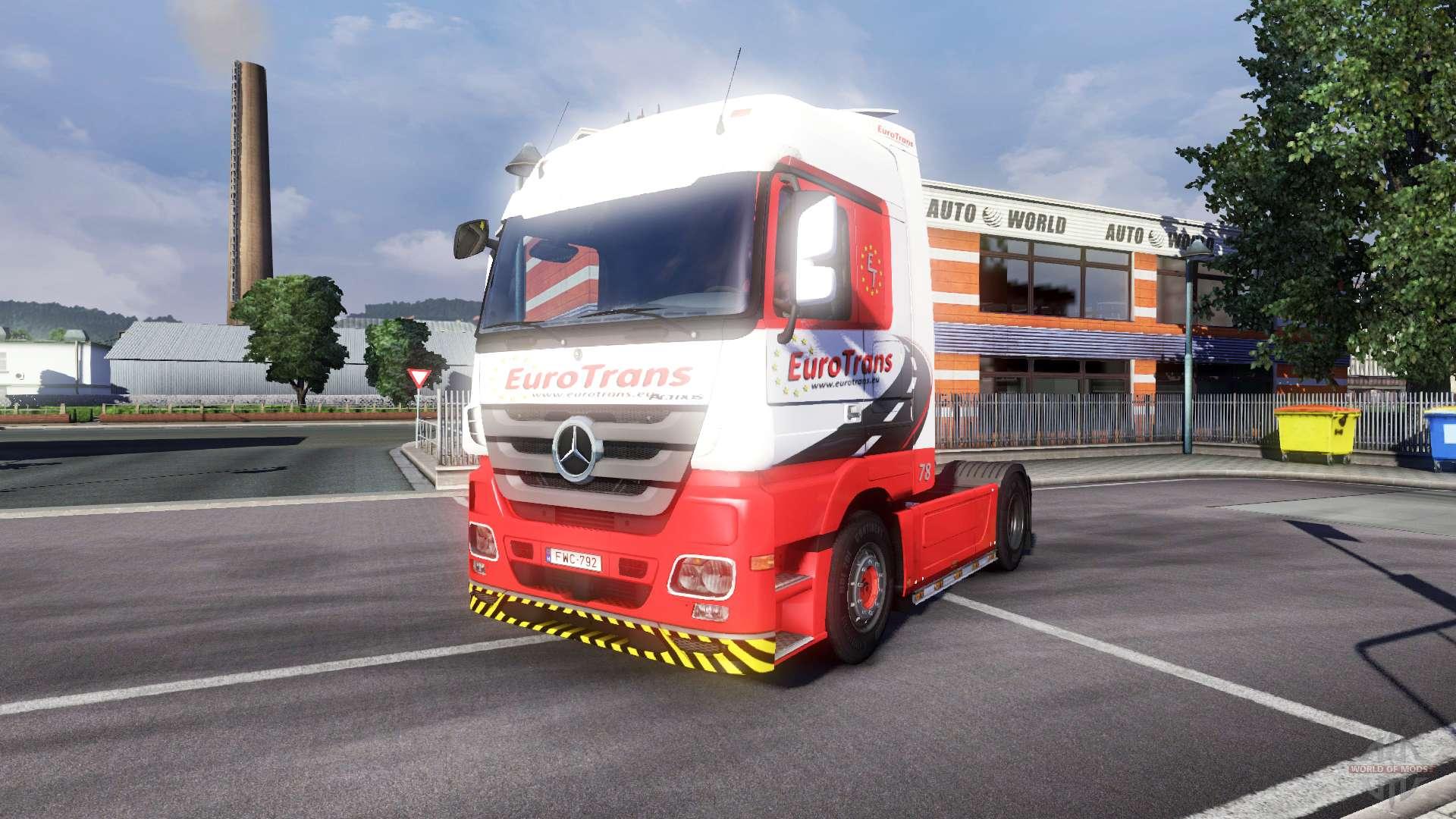 Mercedes benz actros eurotrans for euro truck simulator 2 for Mercedes benz euro
